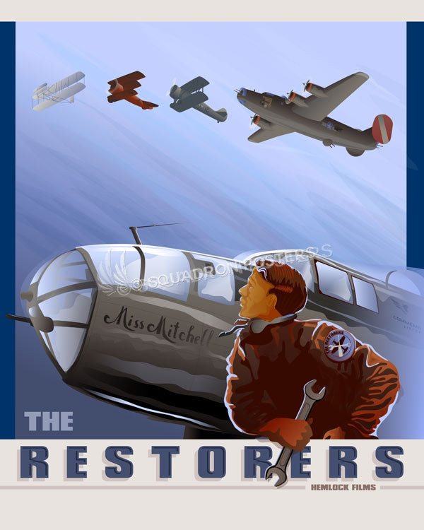 The Restorers SP00774-featured-aircraft-lithograph-vintage-airplane-poster-art