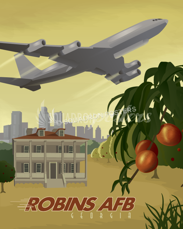 Robins AFB E-8C JSTAR travel print