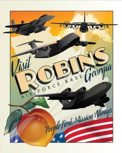 Robins_AFB_GA_SP00983-featured-aircraft-lithograph-vintage-airplane-poster-art