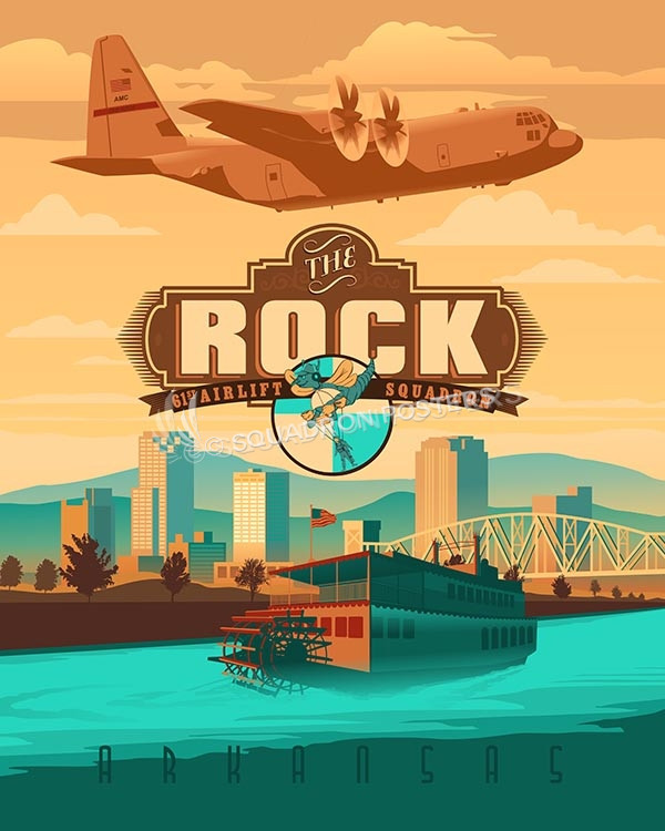 little-rock-61st-c-130J-sp00470-vintage-military-aviation-travel-poster-art-print-gift