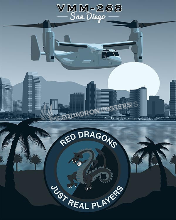 San Diego CV-22 VMM-268 SP00555 military aviation print gift