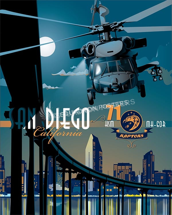 San Diego HSM-71 HH-60 SP00564 poster feature