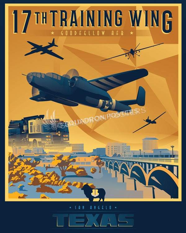 Goodfellow Afb 17th Wing Squadron Posters