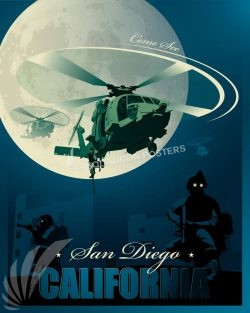 San Diego California HH-60H San_Diego_HH-60_GENERIC_SP01482-featured-aircraft-lithograph-vintage-airplane-poster-art