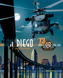HSM-73 NAS North Island MH-60R San_Diego_MH-60s_HSM-73_SP00810-featured-aircraft-lithograph-vintage-airplane-poster-art