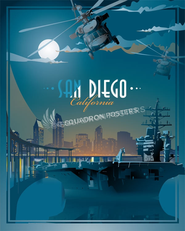 San Diego Carrier SP00712 feature-vintage-style-print