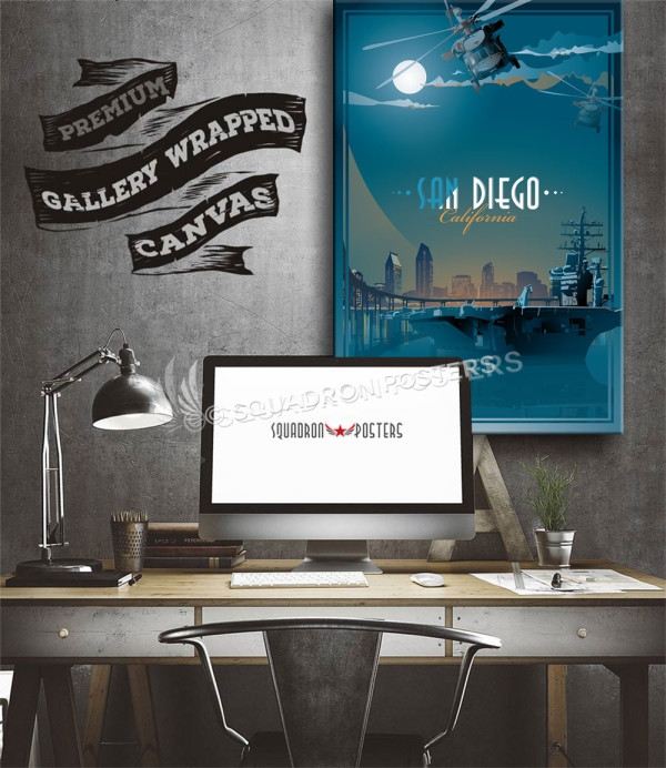 San Diego carrier SP00712 aircraft-prints-posters-vintage-style-art