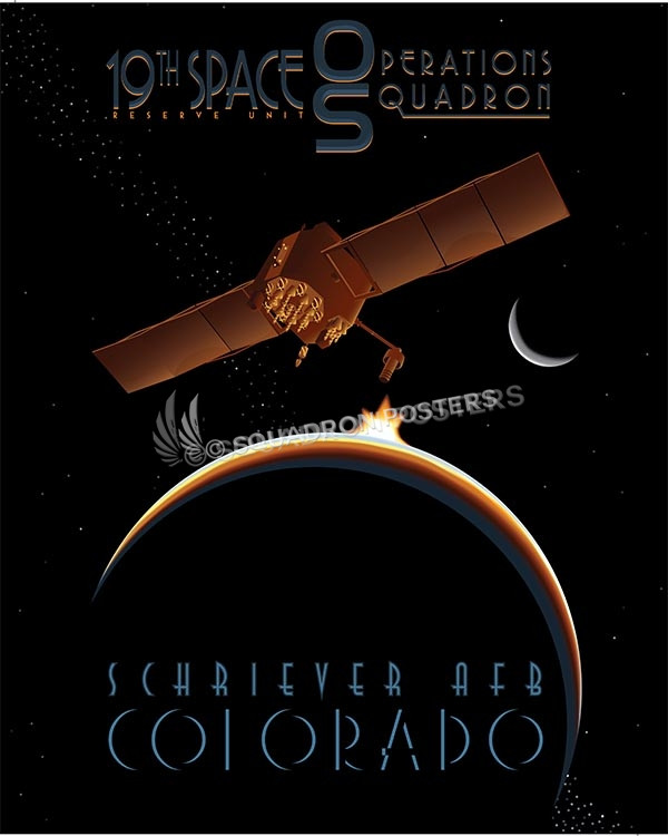 Satellite 19th SOPS SP00579 military aviation poster art print gift