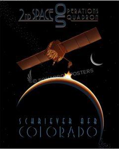 Satellite 2d SOPS SP00578 military aviation poster art print gift
