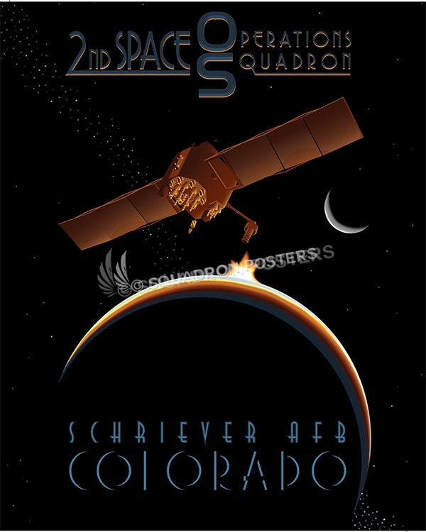 Satellite 2d SOPS SP00578 military aviation poster art print gift