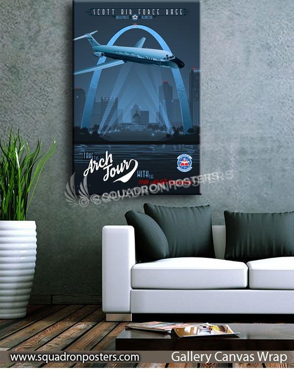 Scott_AFB_C-9_11th_AS_SP00961-squadron-posters-vintage-canvas-wrap-aviation-prints