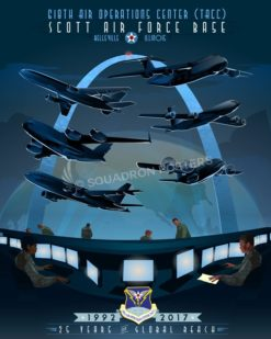 Scott AFB 618th Air Operations Center Scott_AFB__618th_AOC_SP01307-featured-aircraft-lithograph-vintage-airplane-poster-art