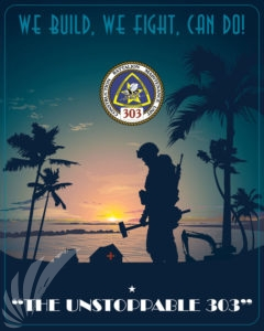 Construction Battalion Maintenance Unit 303 Poster Art