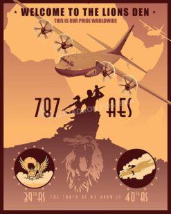 Senegal C-130J 787 AES SP00623-vintage-military-aviation-travel-poster-art-print-gift