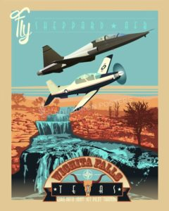 Sheppard_AFB_T-6_T-38_SP00812-featured-aircraft-lithograph-vintage-airplane-poster-art
