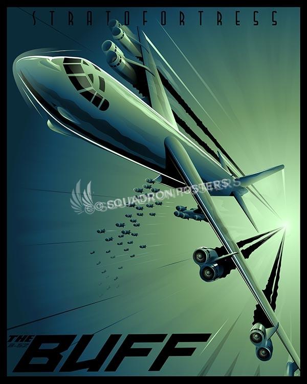 Shockwave B-52 SP00607-vintage-military-aviation-travel-poster-art-print-gift