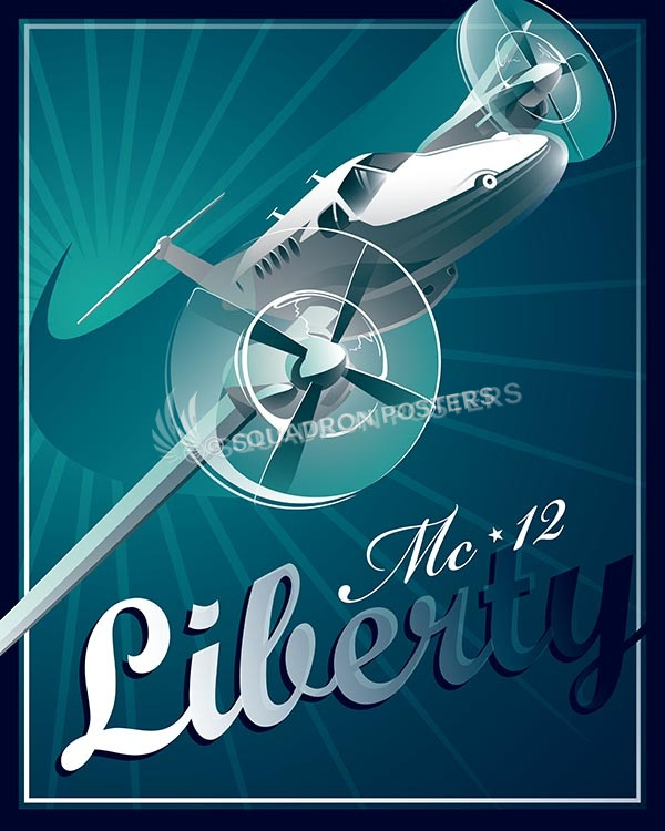 mc-12 liberty Shockwave MC-12 SP00577-vintage-military-aviation-travel-poster-art-print-gift