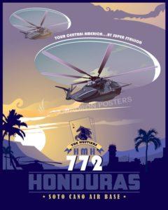 Soto Cano AB Honduras - HMH-772 soto_cano_ab_ch-53e_hmh-772_sp01226-featured-aircraft-lithograph-vintage-airplane-poster-art