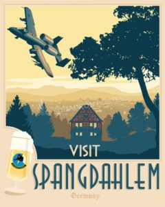 Spangdahlem AB 81st FS A-10 spangdahlem_a-10_81st_sp01218-featured-aircraft-lithograph-vintage-airplane-poster-art