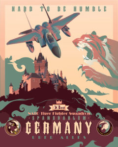 Spangdahlem_AB_Germany_F15_53d_NATO_FS_16x20_FINAL_ModifyMS_SP02184Mfeatured-aircraft-lithograph-vintage-airplane-poster