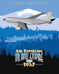 Fairchild AFB - 92d ARS KC-135 spokane_washington_kc-135_92nd_ars_sp01180-featured-aircraft-lithograph-vintage-airplane-poster-art