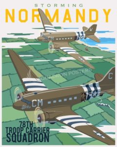 Storming Normandy C-47 SP00714 feature-vintage-style-print