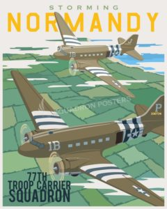 Storming_Normandy_C-47_SP00771-featured-aircraft-lithograph-vintage-airplane-poster-art