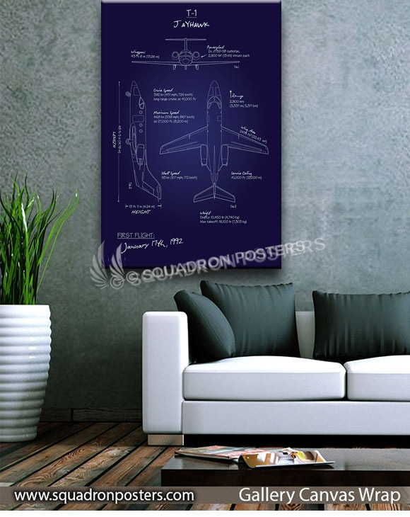 T-1_Jayhawk_Blueprint_SP01016-squadron-posters-vintage-canvas-wrap-aviation-prints