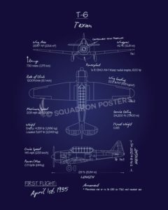 T-6_Texan_Blueprint_SP01018-featured-aircraft-lithograph-vintage-airplane-poster-art