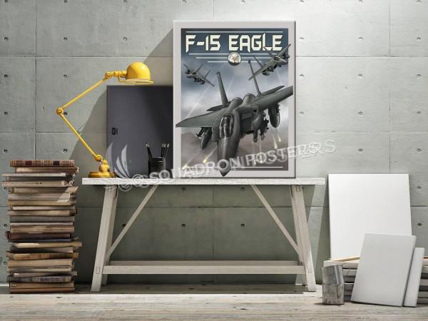 Through The Ages F-15 Eagle SP00724 canvas-vintage-retro-print