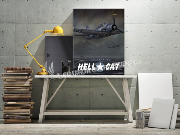 Through The Ages F6F Hellcat SP00650 military-aviation-vintage-retro-canvas-prints