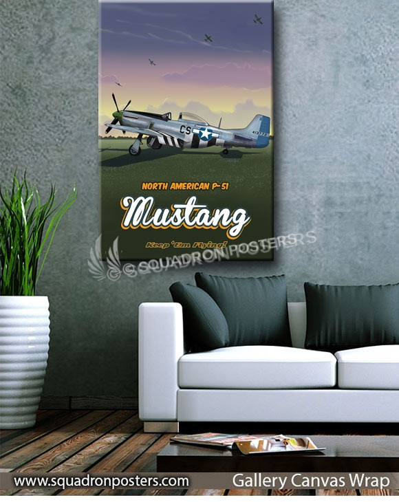 Through_The_Ages_P-51_Mustang_SP00951-squadron-posters-vintage-canvas-wrap-aviation-prints