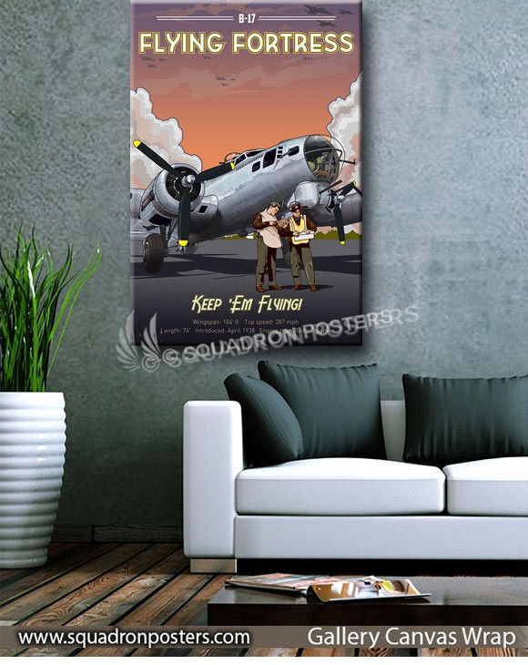 Through_the_Ages_B-17_SP01014-squadron-posters-vintage-canvas-wrap-aviation-prints