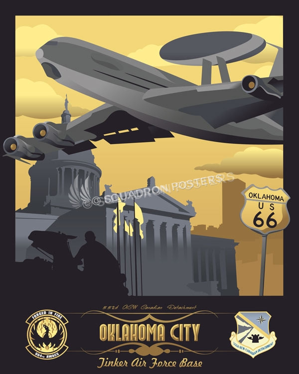 Tinker Afb 552 Acw Canadian Det E 3 Sentry Squadron Posters