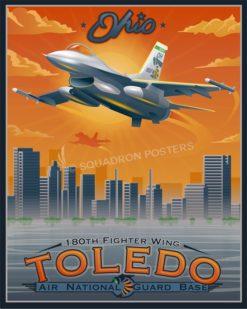 Toledo F-16 180FW SP00728 feature-vintage-print