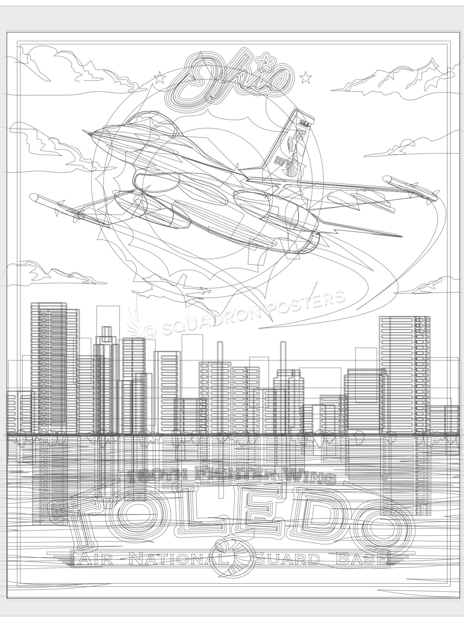 Toledo Sketch - Squadron Posters