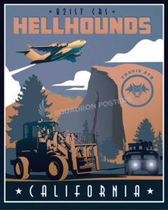 Travis AFB, 821st Contingency Response Squadron Travis_C-17_821st_CRS_SP00990-featured-aircraft-lithograph-vintage-airplane-poster-art