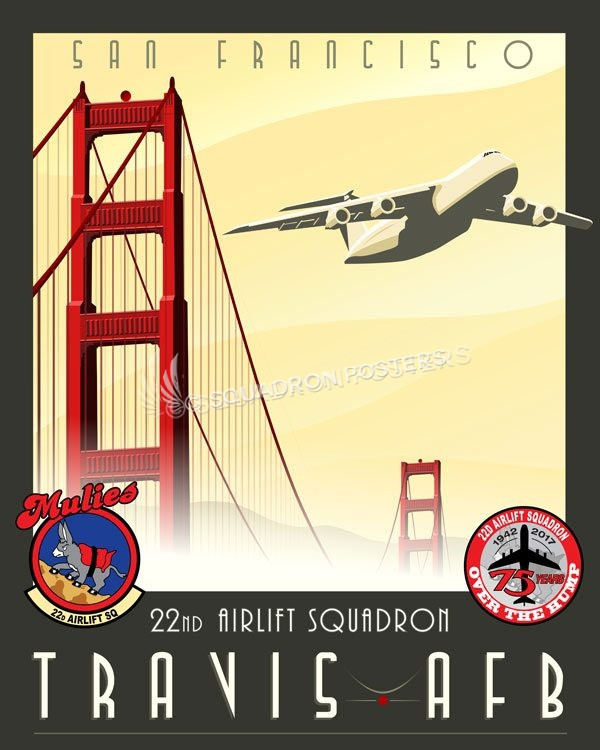 Travis Afb C 5 Galaxy 22d As Squadron Posters