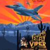 Tucson Az F-16 152nd FS Red SP00697 feature-vintage-style-print