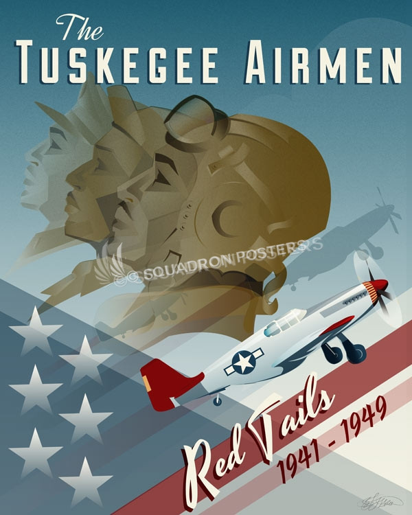 Tuskegee Airmen Red Tails Squadron Posters