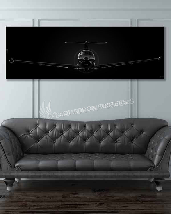 U-28A Jet Black Super Wide u-28-jet-black-super_wide-v2-sp01203-military-air-force-aviation-artwork-poster-jet-black-litho-art