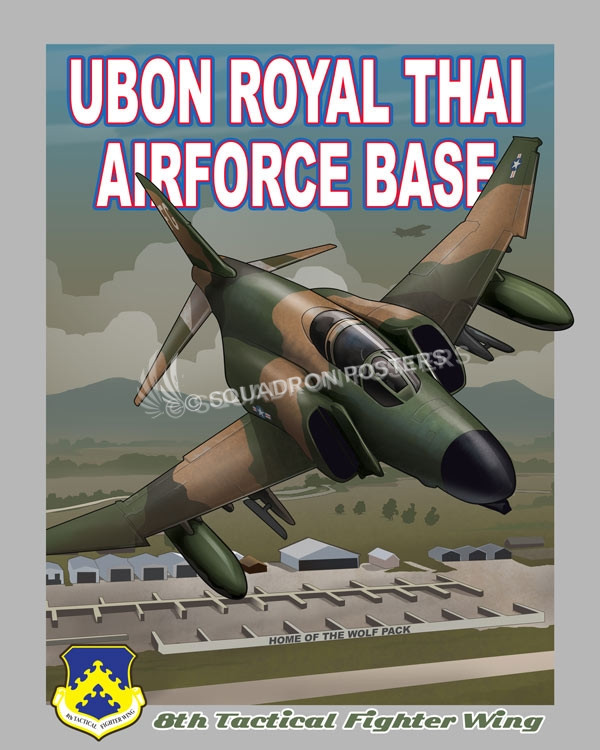 Ubon RTAFB 8th Tactical Fighter Wing F 4 Phantom Rtafb Tfw V2 Sp01219 Featured
