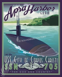USS Corpus Christi SP00594-vintage-military-naval-travel-poster-art-print-gift