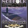USS Newport News VA SP00557-vintage-military-aviation-travel-poster-art-print-gift