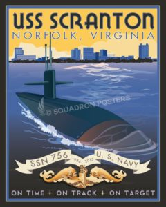 Norfolk Virginia USS Scranton USS_Scranton_SP00805-featured-naval-lithograph-vintage-sub-poster-art