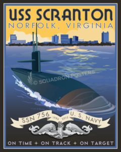 Norfolk Virginia USS Scranton USS_Scranton_Enlisted_SP01326-featured-lithograph-vintage-naval-poster-art