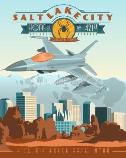 hill-afb-f-16-421st-fs-black-widows-military-aviation-poster-art-print-gift