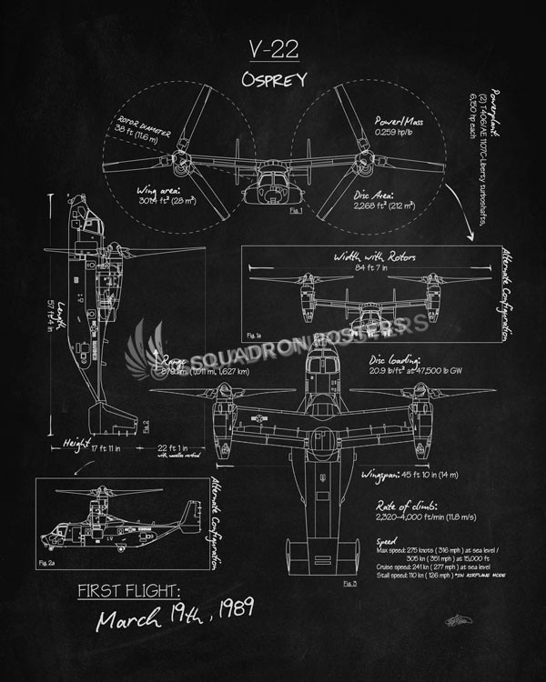 V-22_Osprey_Blackboard_SP00939-featured-aircraft-lithograph-vintage-airplane-poster-art