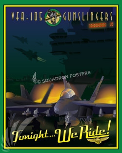 Va_Beach_FA-18_VFA-105_SP00818-featured-aircraft-lithograph-vintage-airplane-poster-art