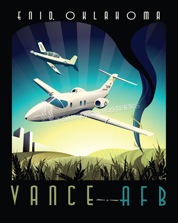Vance AFB T-1 vance_afb_t-6_t-1_71st_ftw_sp01195-featured-aircraft-lithograph-vintage-airplane-poster-art